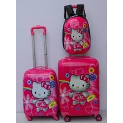 Deciji Koferi set 3u1 Hello kitty sa torbicom