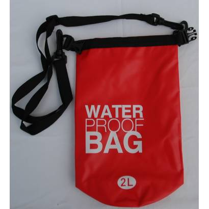 Dry bag Water proof 2L Jednobojni crvena