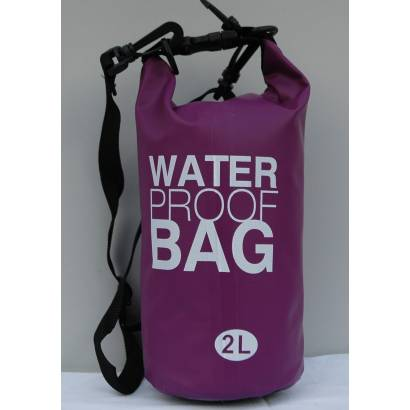 Dry bag Water proof 2L Jednobojni ljubicasti
