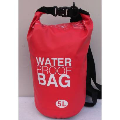 Water proof Dry bag 5L jednobojni crveni