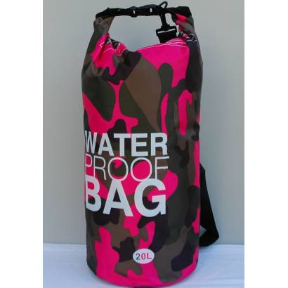 Water proof Dry bag 20L military roze